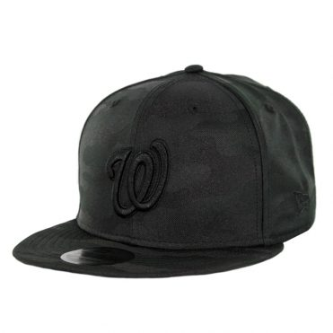 New Era 9Fifty Washington Nationals Blackout Camo Play Snapback Hat Black