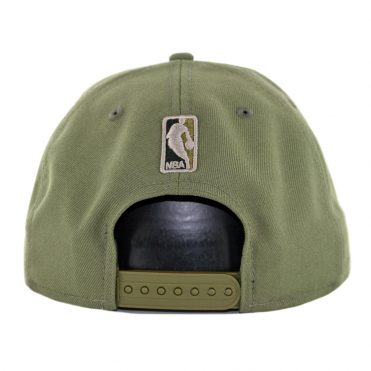 New Era 9Fifty Los Angeles Lakers Camo Trim Snapback Hat Olive Green