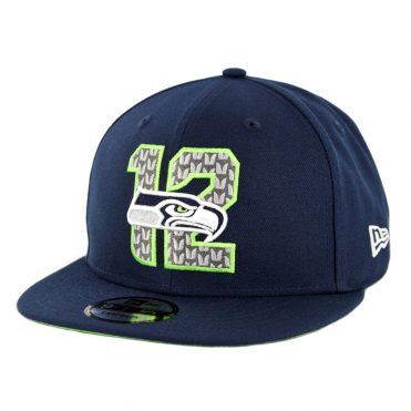New Era 9Fifty Seattle Seahawks NFL 2019 Draft Snapback Hat Official Team Colors