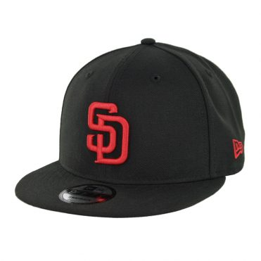 New Era 9Fifty San Diego Padres Snapback Hat Black Red