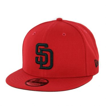New Era 9Fifty San Diego Padres Snapback Hat Red Black