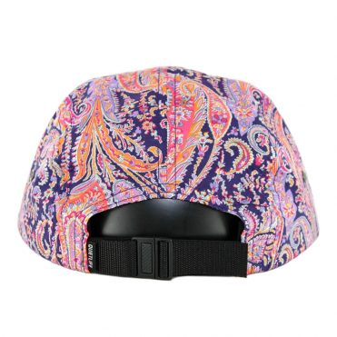 The Quiet Life Pastel Paisley 5 Panel Clipback Hat Pink