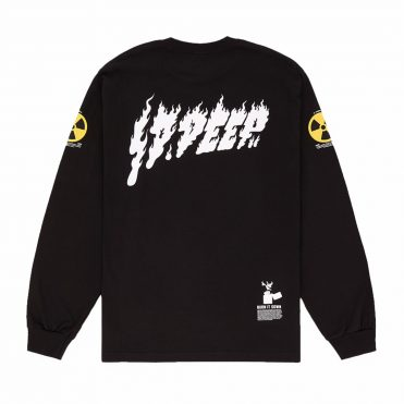 10 Deep Radiated Long Sleeve T-Shirt Black