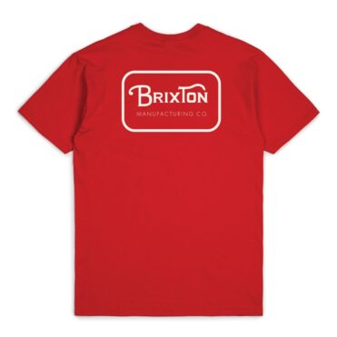 Brixton Grade T-Shirt Red White