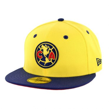 New Era 59Fifty Club America Official Fitted Hat Yellow Navy