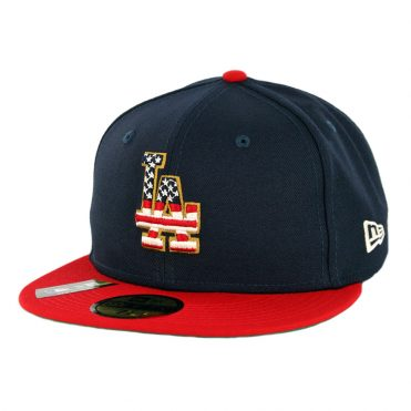 New Era 59Fifty Los Angeles Dodgers July 4th 2019 Fitted Hat Dark Navy