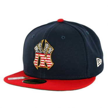 New Era 59Fifty New York Yankees July 4th 2019 Fitted Hat Dark Navy