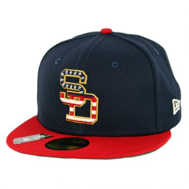 New Era 59Fifty San Diego Padres July 4th 2019 Fitted Hat Dark Navy