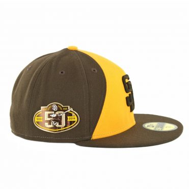 New Era 59Fifty San Diego Padres Alt 2 50th Anniversary Fitted Hat Brown