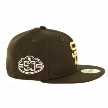 New Era 59Fifty San Diego Padres 50th Anniversary Fitted Hat Brown