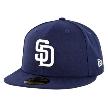 New Era 59Fifty San Diego Padres Home 50th Anniversary Fitted Hat Light Navy