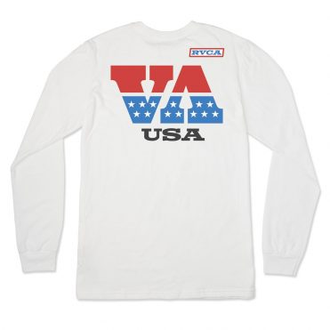 RVCA Indianapolis Long Sleeve T-Shirt White