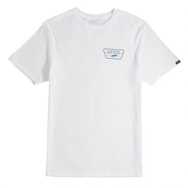 Vans Full Patch Back T-Shirt White Aegean Blue