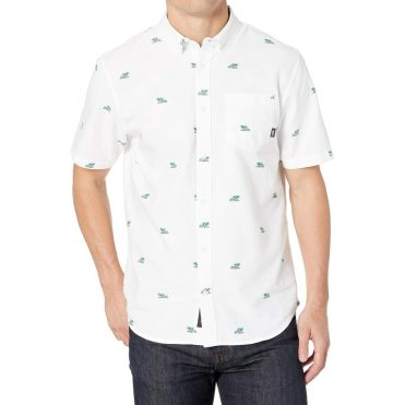 Vans Houser Short Sleeve Buttondown Shirt Palm Ditsy