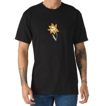 Vans Skull Flower T-Shirt Black