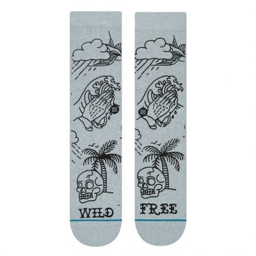 Stance Wild And Free Sock Heather Grey