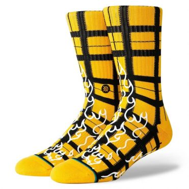 Stance Burning Up Sock Yellow