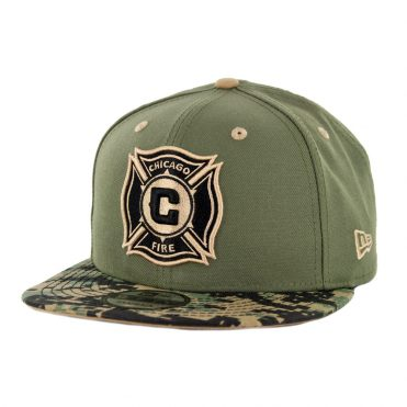 New Era 9Fifty Chicago Fire Military Appreciation Snapback Hat Digi Camo