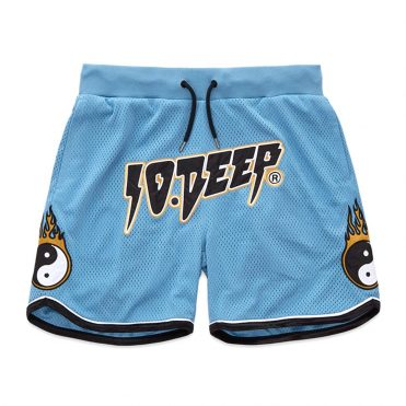 10 Deep Yin-Yang Mesh Short Blue