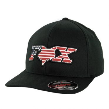 Fox Flag Flexfit Hat Black