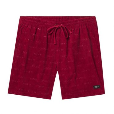 HUF Fuck It Corduroy Easy Short Rose Wood Red