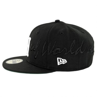 HUF Scripted New Era 59Fifty Fitted Hat Black