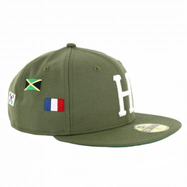HUF World Tour New Era 59Fifty Fitted Hat Dried Herb