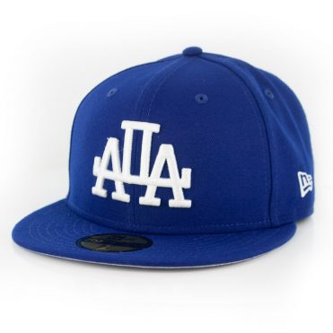 New Era 59Fifty Los Angeles Dodgers Disturb Mirror Fitted Hat Dark Royal