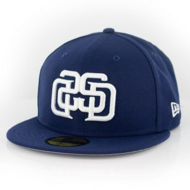New Era 59Fifty San Diego Padres Disturb Mirror Fitted Hat Light Navy