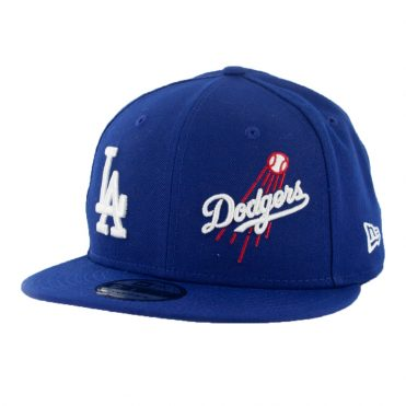 New Era 9Fifty Los Angeles Dodgers Logo Wrap Snapback Dark Royal