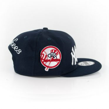 New Era 9Fifty New York Yankees Logo Wrap Snapback Dark Navy