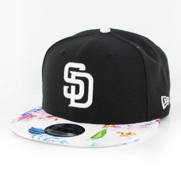 New Era 9Fifty San Diego Padres Floral Snapback Hat Black White Floral