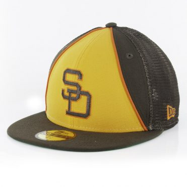 New Era 59Fifty San Diego Padres Winfield Trucker Fitted Hat Brown Gold