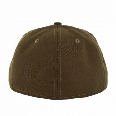 New Era 59Fifty Plain Blank Fitted Hat Brown