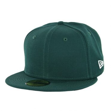 New Era 59Fifty Plain Blank Fitted Hat Dark Green