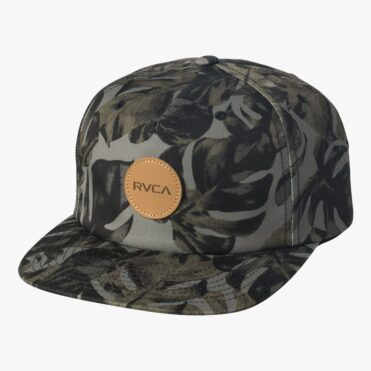 RVCA Leaves Strapback Hat Green