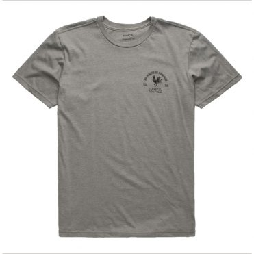 RVCA No Fight T-Shirt Grey Noise