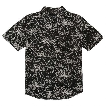 RVCA Blind Floral Button Up Black White