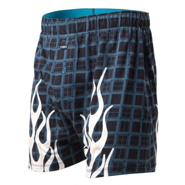 Stance Burnt Plaid BX Boxer Black