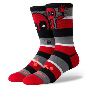 Stance Deadpool Stripe Sock Red