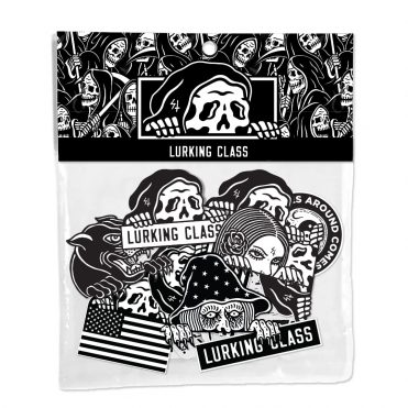 Sketchy Tank Lurkers Sticker Pack Black White