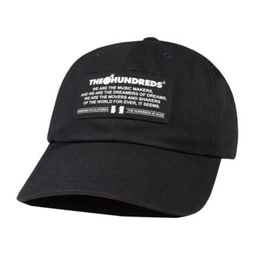 The Hundreds Runner Dad Strapback Hat Black