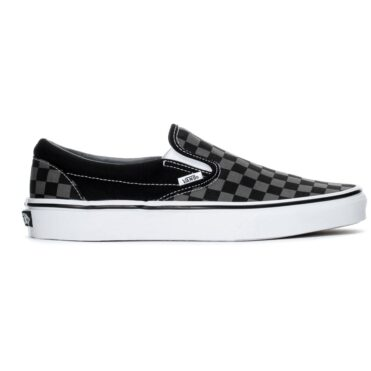 Vans Classic Slip-On Shoe Black Pewter Checkerboard