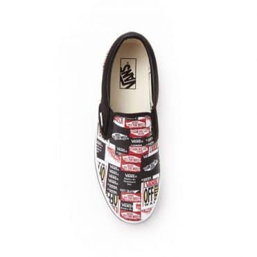 Vans Classic Slip-On Label Mix Shoe Black True White