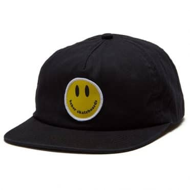 Baker Smiley Snapback Hat Black