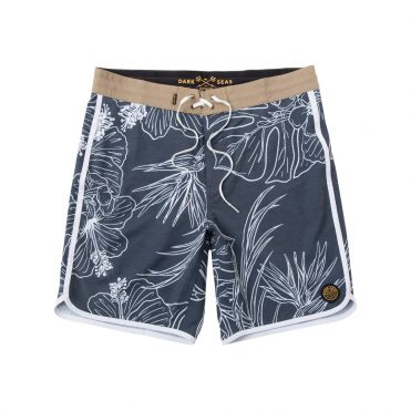 Dark Seas Crest Boardshort Navy White