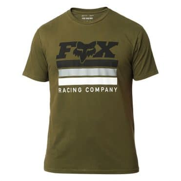 Fox Street Legal Airline T-Shirt Olive Green
