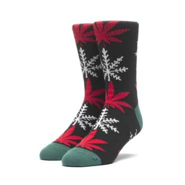 Huf Glow-Flake Plantlife Sock Black
