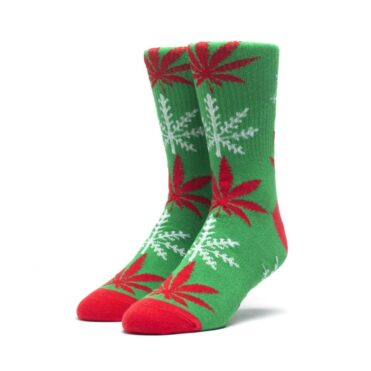 Huf Glow-Flake Plantlife Sock Green