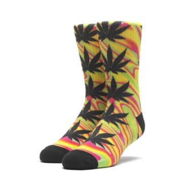Huf Good Trip Plantlife Sock Blazing Yellow